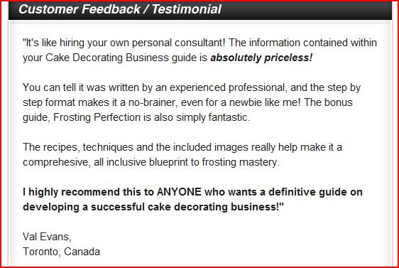 Cake bus testimonial Need Money?  Start Your Own Home Baking Business