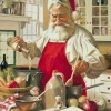 """Santa and Elves in the Kitchen Cooking"""
