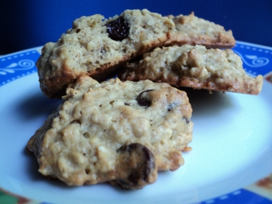banana cookies Banana Cookies with Chocolate Chips and Walnuts