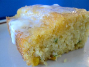 DSC01807 300x225 Corny Cornbread with Cheddar and Jalapeno