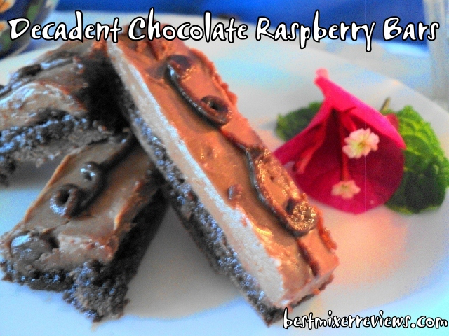 roflbot17 Decadent Chocolate Raspberry Bars