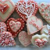 """Valentine Sugar Cookies Decorated With Royal Icing"""
